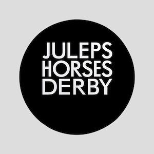 "Juleps Horses Derby 3.5"" Button"