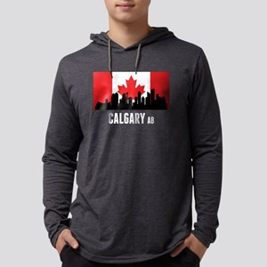 Calgary AB Canadian Flag Long Sleeve T-Shirt