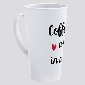 Coffee is a Hug in a Mug 17 oz Latte Mug