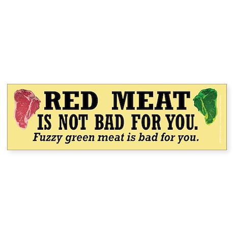 Red Meat Bumper Sticker