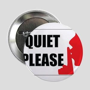 """quiet please 2.25"""" Button (10 pack)"""
