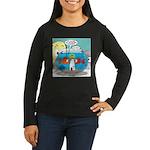 Fishbowl Paranoia Women's Long Sleeve Dark T-Shirt