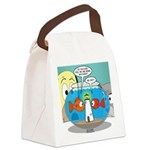 Fishbowl Paranoia Canvas Lunch Bag
