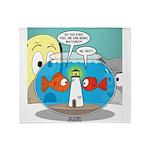 Fishbowl Paranoia Throw Blanket