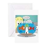 Fishbowl Paranoia Greeting Cards (Pk of 10)