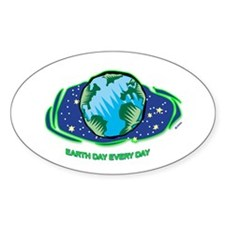 Earth Day Every Day Oval Sticker