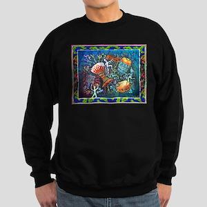 DrumsLargeWHITE Sweatshirt