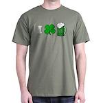 Funny St Particks Day I Love Dark T-Shirt