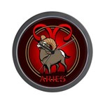 Aries Ram Wall Clock Astrology Gifts