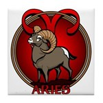 Aries Ram Tile Coaster Astrology Aries Gifts