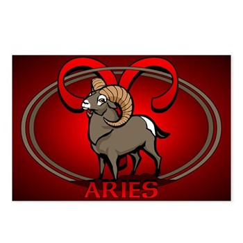 Aries Astrology Art Postcards (Package of 8)