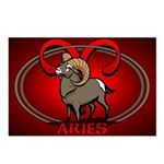 Aries Ram Postcards 8 Pack Astrology Postcards