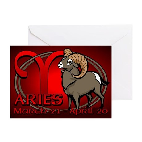 Aries Astrology Art Greeting Cards (Pk of 20)