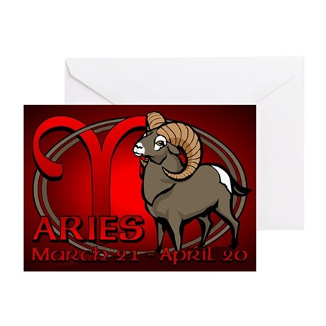 Aries Astrology Art Greeting Cards (Pk of 10)