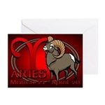 Aries Ram Greeting Cards 10 pack Astrology Cards