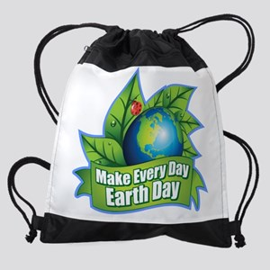 Make Every Day Earth Day Drawstring Bag