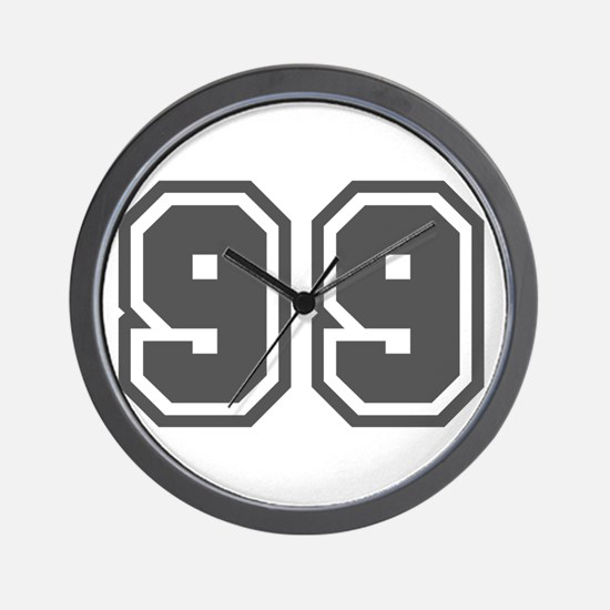 Number 99 Wall Clock