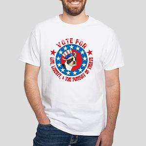 Vote for Boston Terrier White T-Shirt