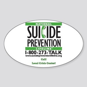 Prevent Suicide! Oval Sticker