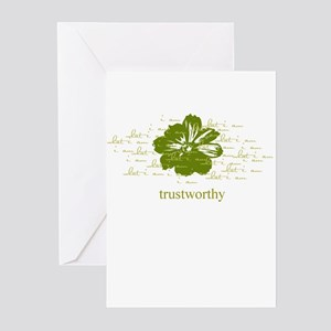trustworthy Greeting Cards (Pk of 10)