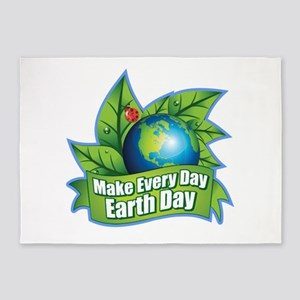 Make Every Day Earth Day 5'x7'Area Rug