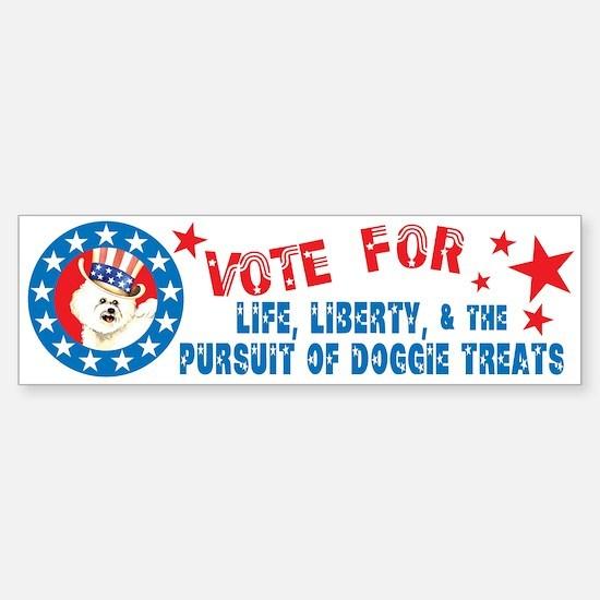 Vote for Bichon Bumper Bumper Bumper Sticker