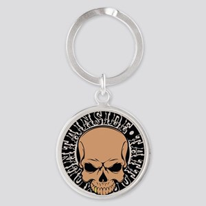 Mountainside Tattoo Round Color Logos 3 Keychains