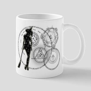 Witching Circles Black Mug
