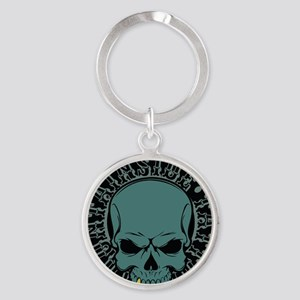 Mountainside Tattoo Round Color Logos 5 Keychains