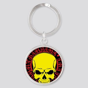 Mountainside Tattoo Round Color Logos 7 Keychains
