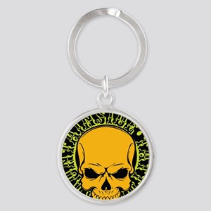 Mountainside Tattoo Round Color Logos 8 Keychains