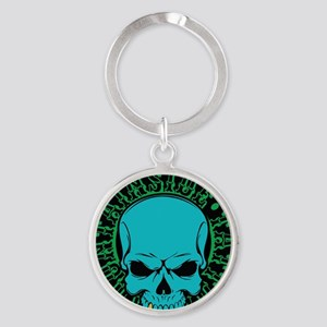 Mountainside Tattoo Round Color Logos 9 Keychains