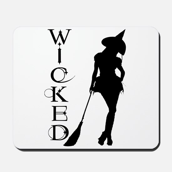 Witching Circles Black Mousepad