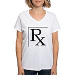 Rx Symbol Women's V-Neck T-Shirt