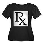 Rx Symbol Women's Plus Size Scoop Neck Dark T-Shir