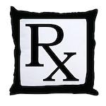 Rx Symbol Throw Pillow