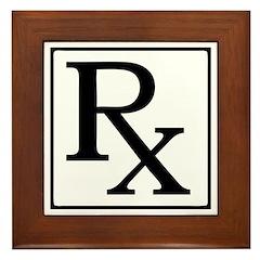 Rx Symbol Framed Tile