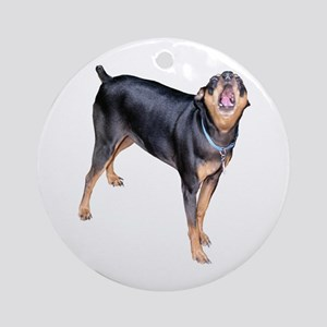 Helaine's Miniature Pinscher Ornament (Round)