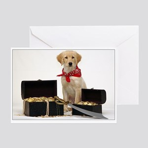 SNAPshotz Golden Puppy Pirate Photo Card