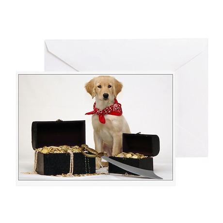 SNAPshotz Golden Puppy Pirate Photo Card
