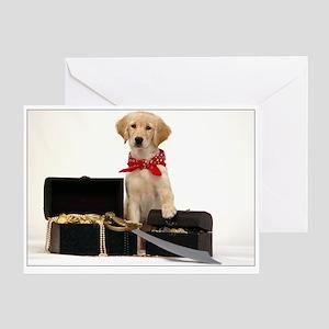 SNAPshotz Golden Puppy Pirate Booty Photo Card