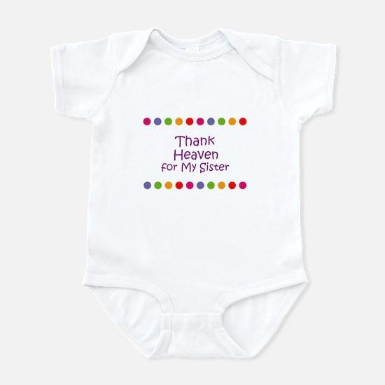 Thank Heaven for My Sister Infant Bodysuit