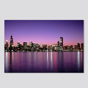 Chicago Nitetime Skyline Postcards (Package of 8)