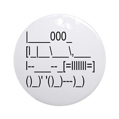 ASCII Offroad Vehicle Ornament (Round)