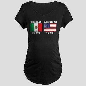 Mexican American Maternity Dark T-Shirt