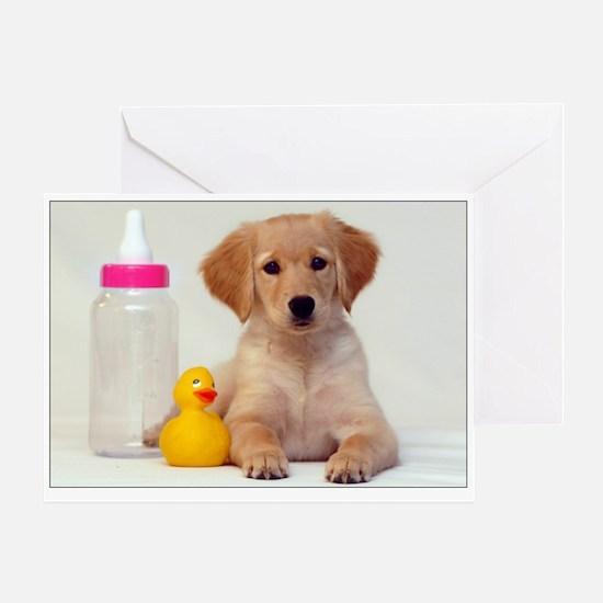 It's a Girl Golden Puppy SNAPshotz Photo Card