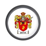 Parrish Family Crest Wall Clock