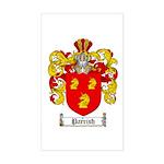 Parrish Family Crest Rectangle Sticker