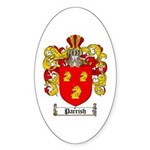 Parrish Family Crest Oval Sticker