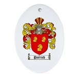 Parrish Family Crest Oval Ornament
